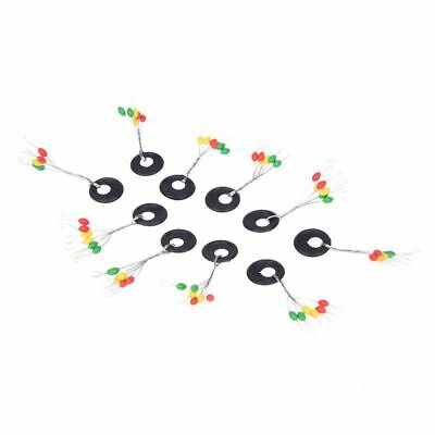 2X( 10 Pieces Fishing Tackle Multicolor Plastic Floater Bobber Stopper E2A2)