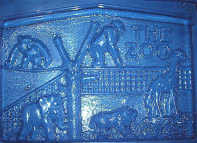 Large Rectangle Shape With A Zoo Theme Chocolate Mould Or Plaster Mould