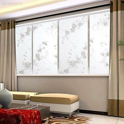 3D View Frosted Stained Sticker Glass Static Cling Privacy Window Film Us Ship