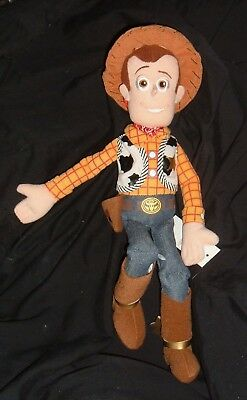 "TOY STORY WOODY 16"" PLUSH Cowboy Doll Spurs NEW FREE SHIP DISNEY COLLECTION"