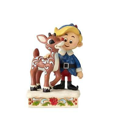 Jim Shore Rudolph The Red Nosed Reindeer 2018 HERMEY HUGGING RUDOLPH 6001594