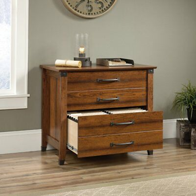 Sauder Carson Forge Lateral File Cabinet - Cherry