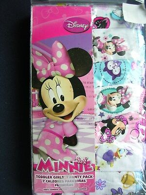 "Latest  ""minnie Mouse ""   7 Pr  Pkg. Of Girls Panties   Size 4T Nwt #lmm4"