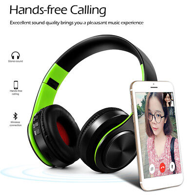 4in1 Bluetooth Headphone Wireless Stereo Music Headset Earphone MIC MP3/FM/TF/SD