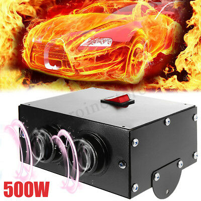 500W 12V Car Vehicle Fan Heater Defroster Demister Hot Heating Warmer Windscreen