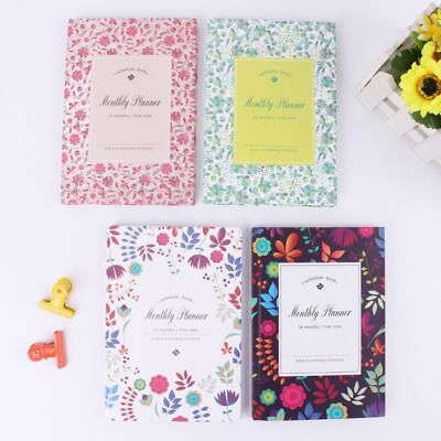 Flower Schedule Yearly Diary Weekly Monthly Planner Notepad School Organizer