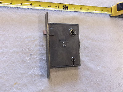 Vintage Mortise Door Lock with Brass Plate