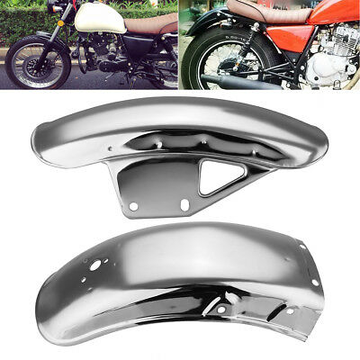 Chrome Motorcycle Front Rear Mudguard Guard Fender For Suzuki GN125