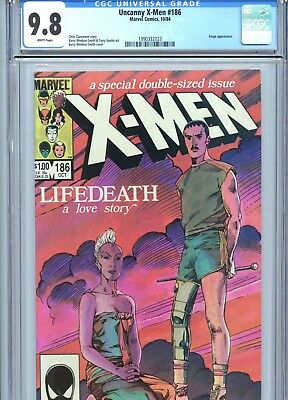 Uncanny X-Men #186 CGC 9.8 White Pages Barry Smith Cover & Art Marvel 1984
