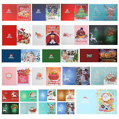 Christmas Greeting Cards 5D Diamond Painting Cross Stitch Holiday Happy New