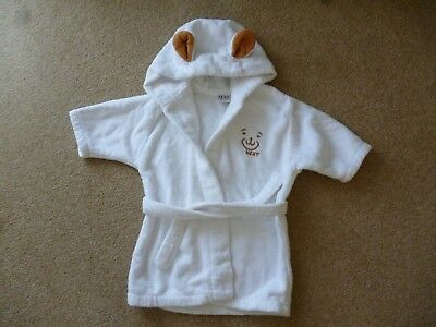 Baby White Towelling Dressing Gown Age 6 12 Months Next 300