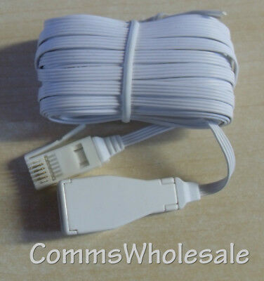 Commtel 10 m (metre) Lo-profile Telephone Extension Lead - NEW