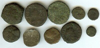 Ancient Coin Mixture, Nice Mixed Group Of Greek/roman/byzantine Coins