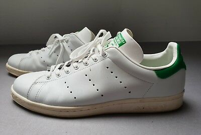 1b75f7c2821f71 ADIDAS STAN SMITH - WEISS GRÜN 45 1 3 US11 Used Superstar Tennis Casual