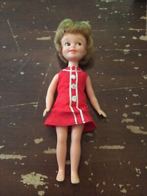 Vintage 1963 Deluxe Reading Corp Penny Brite 8 inch Doll With Red Dress