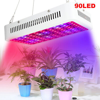 900W 90x LED Grow Light Panel Lamp for Hydroponic Plant Growing Full Spectrum