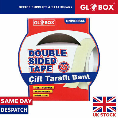 20mm x 25m Multipurpose Strong Transparent Double Sided Tape