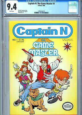 Captain N: The Game Master #1 CGC 9.4 White Pages Valiant Comics 1990