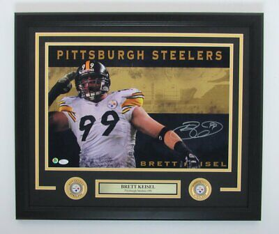 83cfbb7d1 Brett Keisel Pittsburgh Steelers Signed Framed 16x20 Photo Autographed Auto  2286