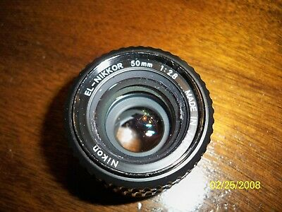 Nikon  El-Nikkor  50Mm  1:2.8 Enlarger Lens  Made In Japan  Used Condition