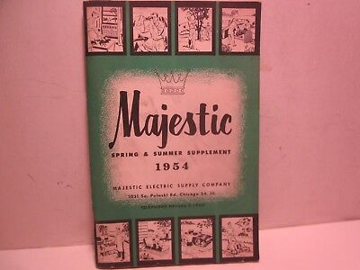 Vintage Rare,1954 Majestic Electric Supply,80 Pg. Home Goods Merchandise Catalog