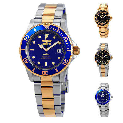 Invicta Pro Diver Black or Blue Dial 40 mm Men's Watch - Choose color