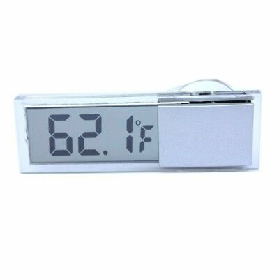 2X(Osculum Type LCD Vehicle-mounted Digital Thermometer Celsius Fahrenheit O5L4)