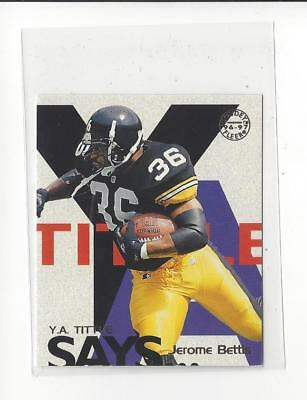 1997 Fleer Goudey Tittle Says #2 Jerome Bettis Rams