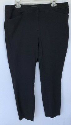 75e57ae4924 HALOGEN Women s Black Stretch Career Pants Cropped Ankle Two Pockets Size 16