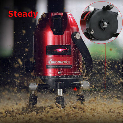 360° Rotary Laser Level Auto Self-Leveling 5 Line 6 Point Measure Tool Set Stand