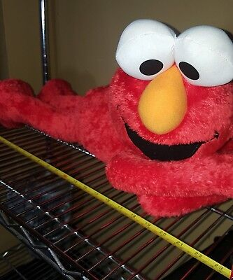 """Elmo plush large 22"""" lying down with tags excellent condition 2007 (non smoking)"""