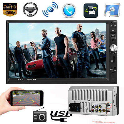"7"" 2DIN Touch Screen Car MP5 Player Bluetooth Stereo FM Radio USB  In-Dash"