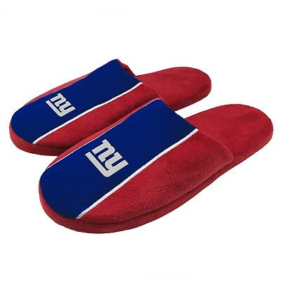 Pair of New York Giants Big Logo Stripe Slide Slippers House shoes NEW STP18