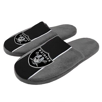 26af1849 OAKLAND RAIDERS SLIPPERS Logo NEW Womens Slide House shoes! Peak ...