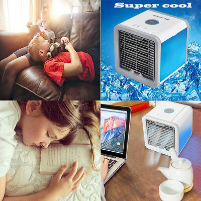 Small Cooling Fan USB Rechargeable Mini Air Conditioner Portable Cooler Desktop
