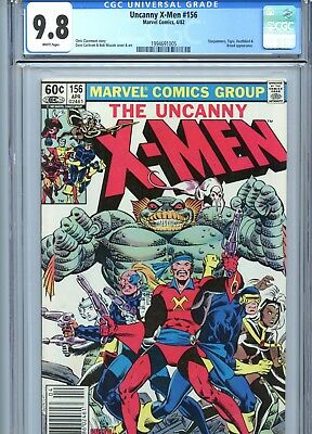Uncanny X-Men #156 CGC 9.8 White Pages *Newsstand Edition* Marvel Comics 1982