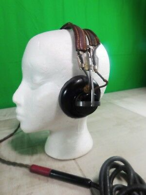 WW11 Western Electric Aircraft Headset Headphones--Receiver AN B-11-1