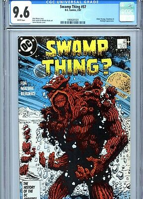 Swamp Thing #57 CGC 9.6 White Pages Alan Moore Story DC Comics 1987