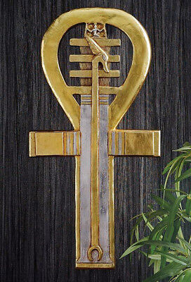 """23"""" Ankh Ancient Egyptian Symbol of Life Wall Sculpture Replica Reproduction"""