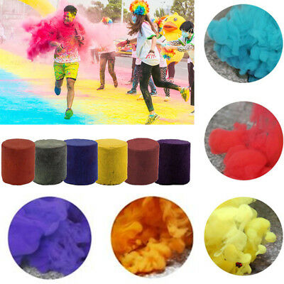 1pc Colorful Smoke Cake Bomb Round Effect Show Magic Photography Stage Aid Toy