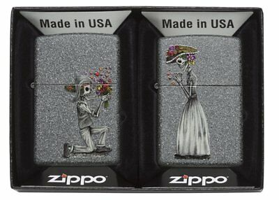 Zippo Day of The Dead Skulls Regular Lighter - Iron Stone