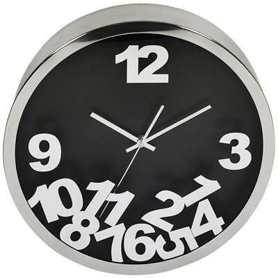 "Wall Clock ""Zahlenmix"" 40 cm Kitchen Living Room Watch Railway Station Face"