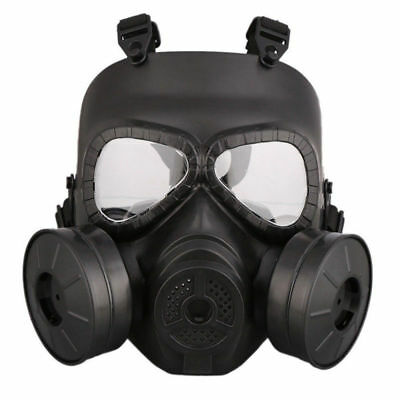 Double Filter Fan Gas Mask CS Edition Perspiration Dust Eye Protect Face Guard