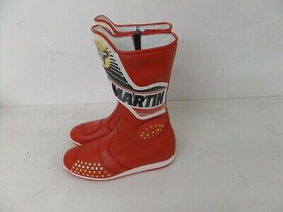 Stylmartin Motorcycle Motorbike Racing Boots - Red/white 184 - Various Sizes