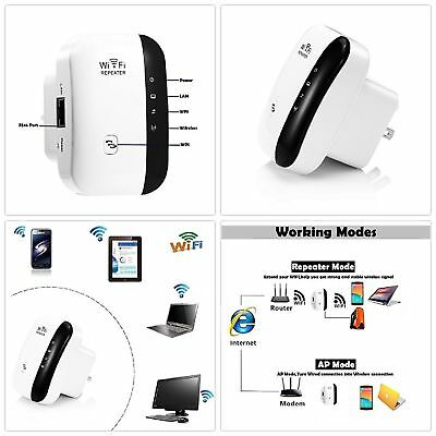 NEW WiFi Range Extender Super Booster 300Mbps Superboost Boost Speed Wireless N