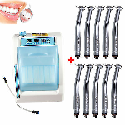 Dental Automatic Handpiece Maintenance Lubricant Cleaner + 10*Handpieces CE
