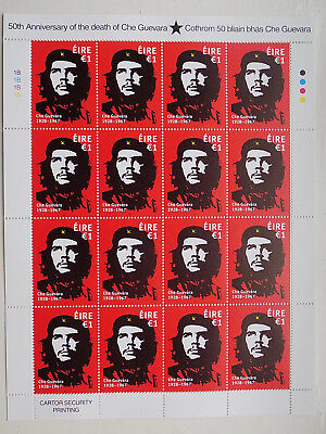 Che guevara €1 stamp sheet 1B  16 stamps. SOLD OUT. Ireland Eire mint condition.