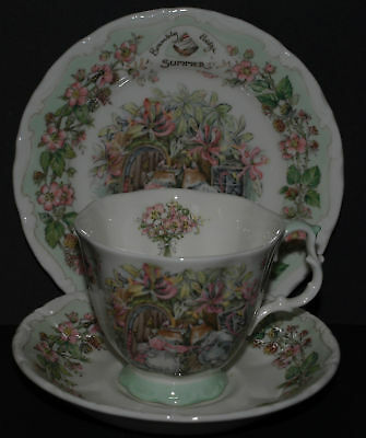 Brambly Hedge Royal Doulton Summer Full Size Trio Cup Saucer Plate 1St Quality