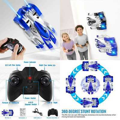 SGILE Remote Control Car Toy Rechargeable RC Wall Climber For Kids Boy Girl Birt