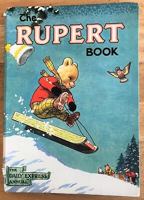 RUPERT ORIGINAL ANNUAL 1956 Inscribed Price Clipped Painting Done Good PLus